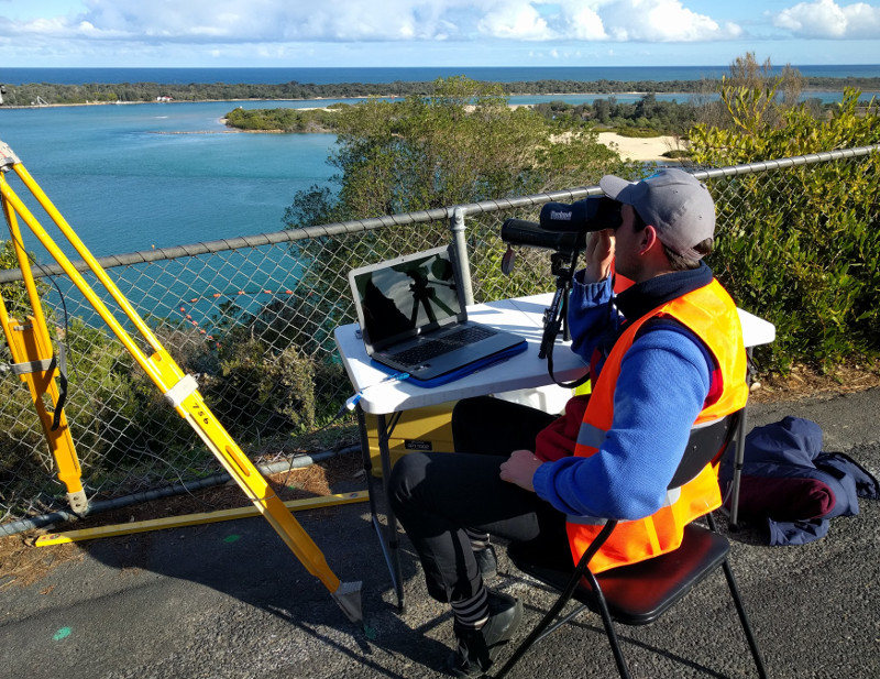 Using technology to trach the Burrunan Dolphin at Kalimna Lookout