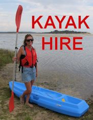 Hire a Kayak on the shores of Lake tyers