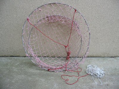 Natural Fibre Crab Net, Steel Hoops