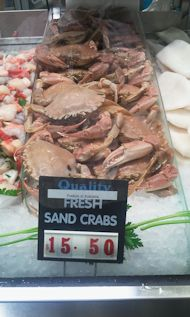 Sand Crabs at Victoria Market