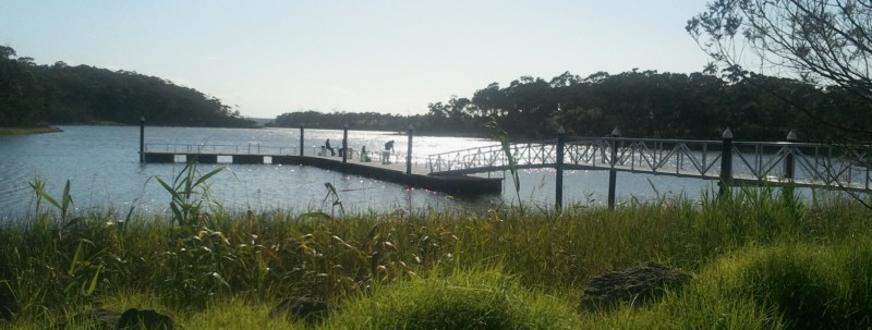 The Fishing Jetty at Lake Tyers Beach