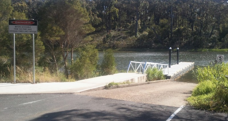 Boat Ramp at Fishermans Landing, Lake Tyers Beach