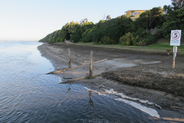 The old Boat Ramp at Number 2 boat Ramp Lake Tyers Beach