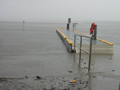 Lake Tyers Beach about to break through