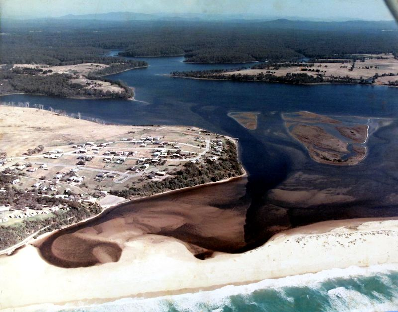 Aerial Shot of Lake Tyers Beach