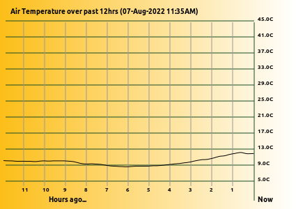 Temperature Graph last 12 Hrs