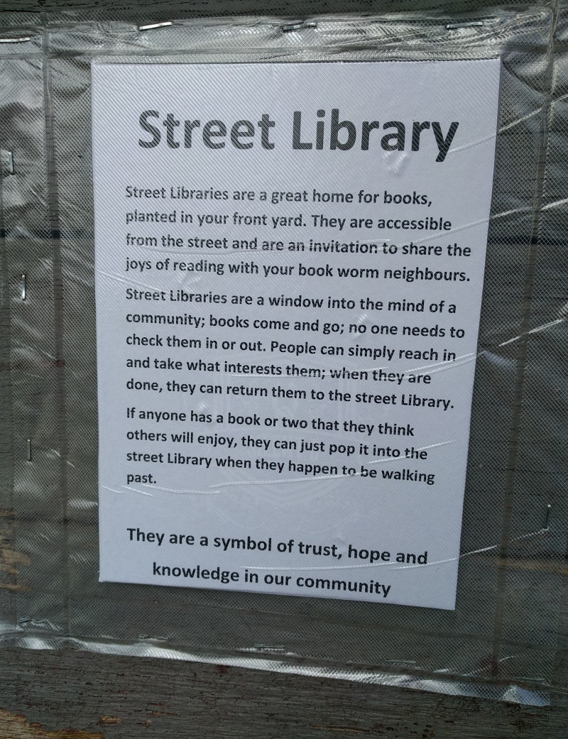 Explanantion of the Street Books at LTB