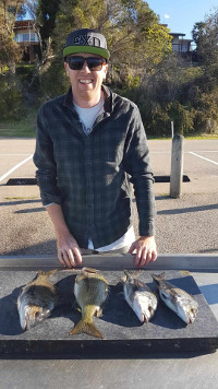 Brodie and Guss'  haul at Lake Tyers.