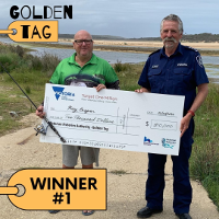 $10k Winner from Bemm River, photo at Lake Tyers Beach