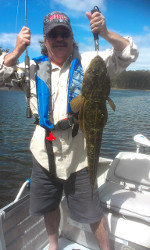 Big Flathead caught by Boyd McPhee Lake Tyers
